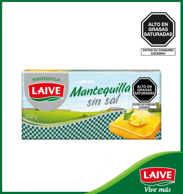 MANTEQUILLA SIN SAL LAIVE BARRA 200 GR