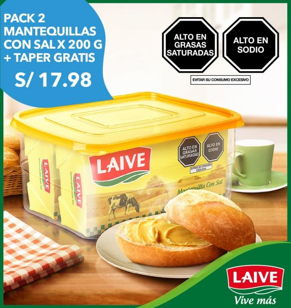 Pack 2 Barras Mantequilla con sal 200 g + Taper