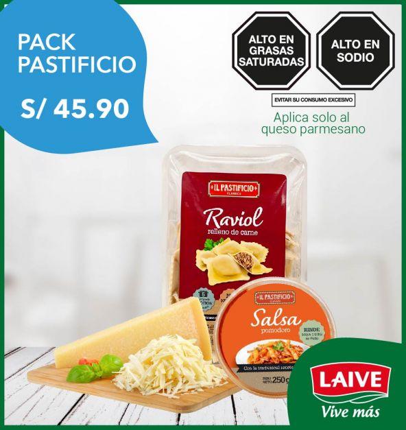 PACK PASTIFICIO: RAVIOL DE CARNE + QUESO PARMESANO + SALSA POMODORO