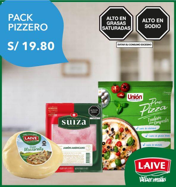 Pack Pizzero: Pre Pizza + Jamón + Mozzarella