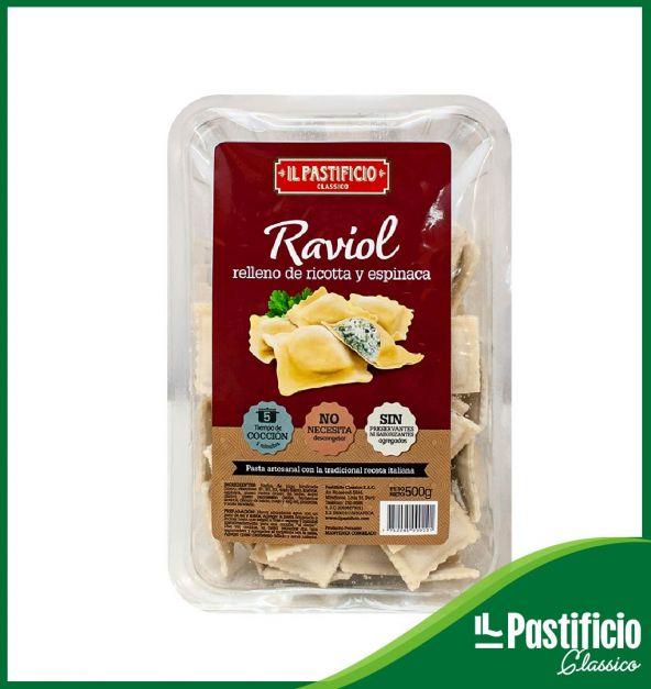 Raviol Ricotta y espinaca IL Pastificio x 500 g