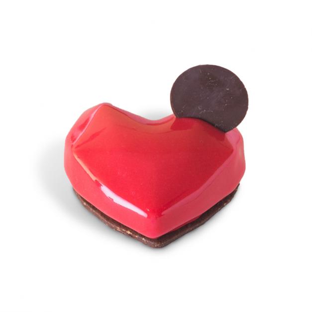 Corazón de frutos rojos
