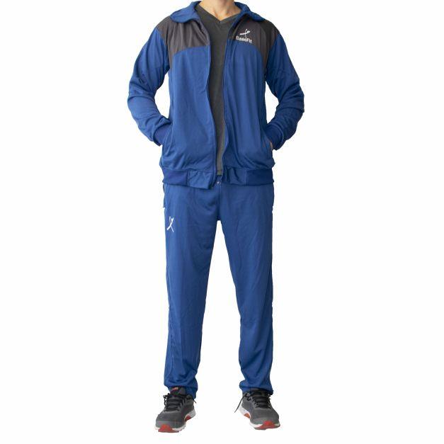Buzo Completo Men Sport - Azulino / Plomo