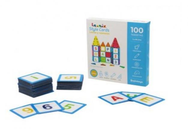 STYLE CARDS LETRAS Y NUMEROS IMANIX 100 PZ