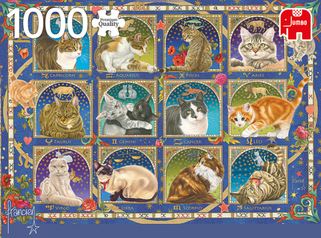 PUZZLE 1000 PZ - Francien, Cat Horoscope