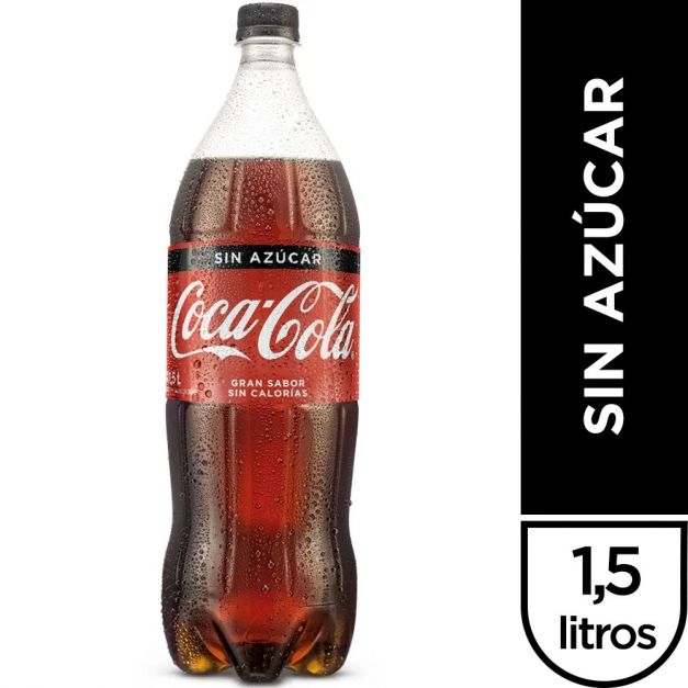 Coca Cola Sin Azúcar 1.5 lt
