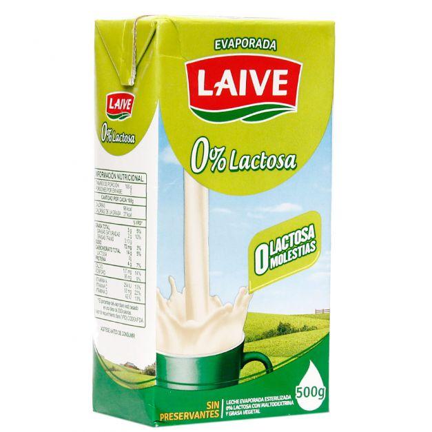 Leche Evaporada 0% Lactosa 500g Laive
