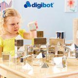 Mini Bloques de construcción 3D - Plateados