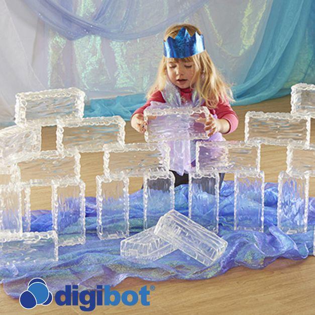 Ladrillos de hielo con efecto glaciar