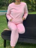 Pijama Polo y Pantalon Coral Fleece