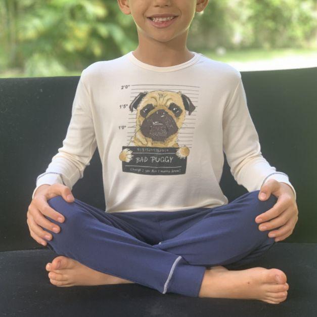 Polo y Pantalon Niño Rib - Algodón