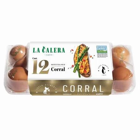 HUEVOS DE CORRAL LA CALERA PQT X 12 UND