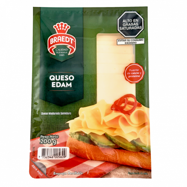 QUESO EDAM BRAEDT BLISTER X 200 GRS