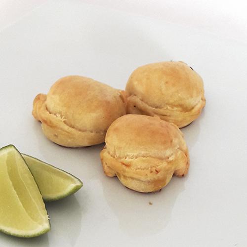 Mini empanadas congeladas de alcachofa x 28 und