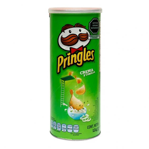 PRINGLES SOUR&CREAM ONION x 124 grs