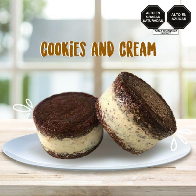 Sandwich de cookies and cream