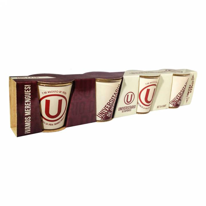 SET X 4 VASOS SHOT 35 ML - UNIVERSITARIO