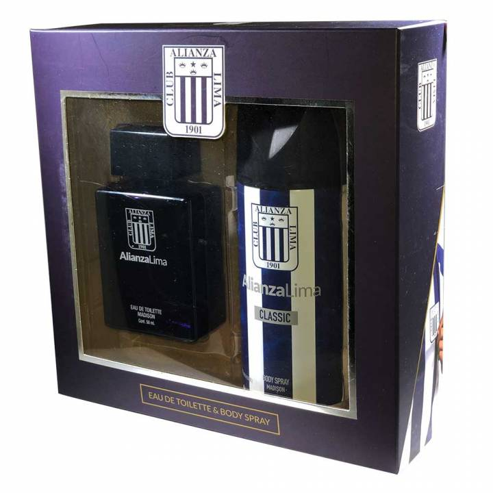 SET COLONIA 50 ML + BODY SPRAY 150 ML - ALIANZA LIMA