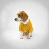 Camisa Pet Polka Dots Mustard