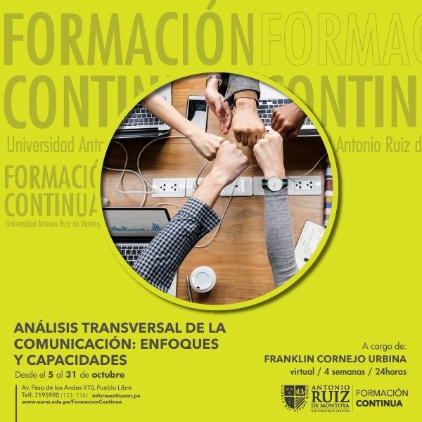 ANÁLISIS TRANSVERSAL DE LA COMUNICACIÓN: ENFOQUES Y CAPACIDADES
