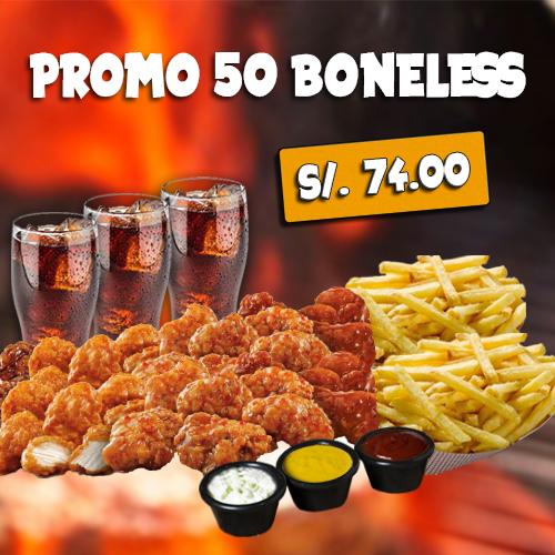 PROMO 50 PIEZAS DE BONELESS