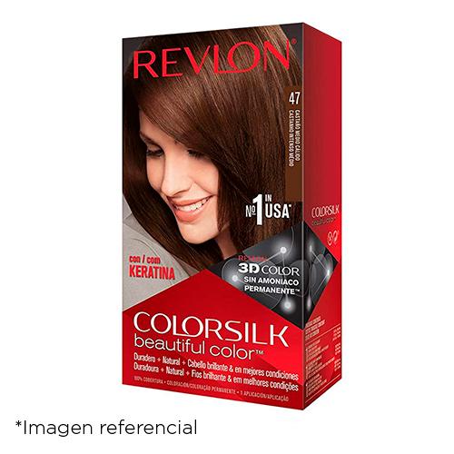 Revlon Colorsilk 47 Tinte Castaño Medio Cálido 4WB