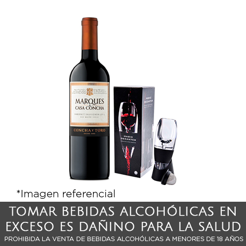Pack Vino Marques + Decantador