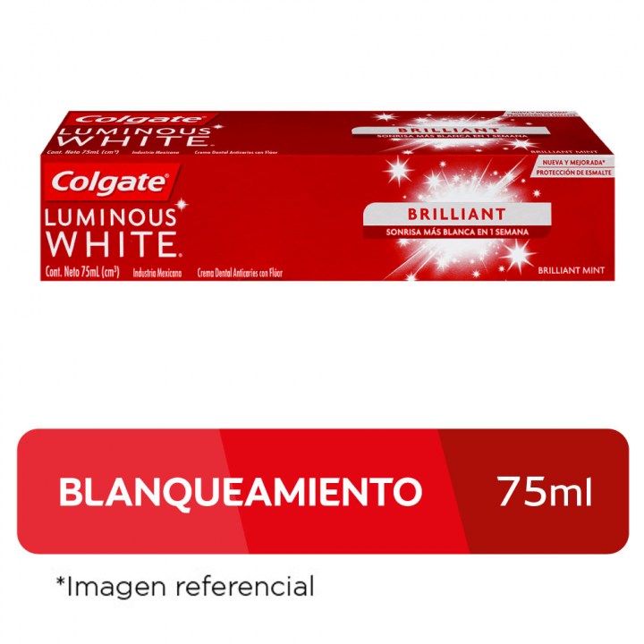 Pasta Dental Colgate Luminous White 75 ml