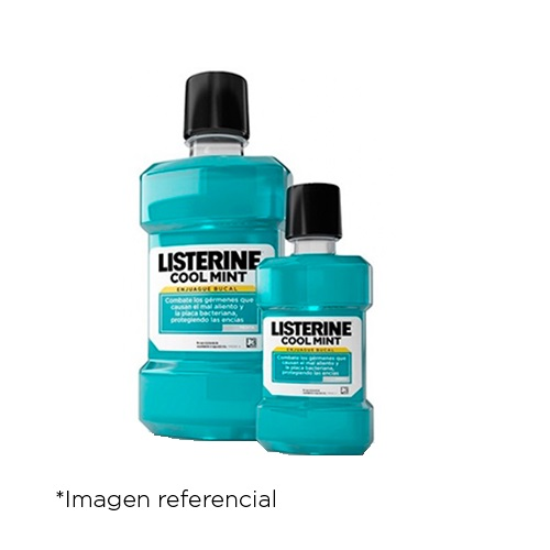 Listerine Enjuague Bucal Cool Mint. Frascos 500 ml + 180 ml