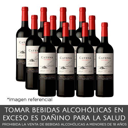 Pack 12 unidades -  Catena Malbec Vino Botella de 750 ml