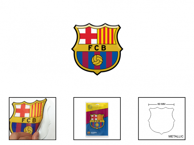 Emblema adhesivo FCB de metal en alto relieve FCB-AS07