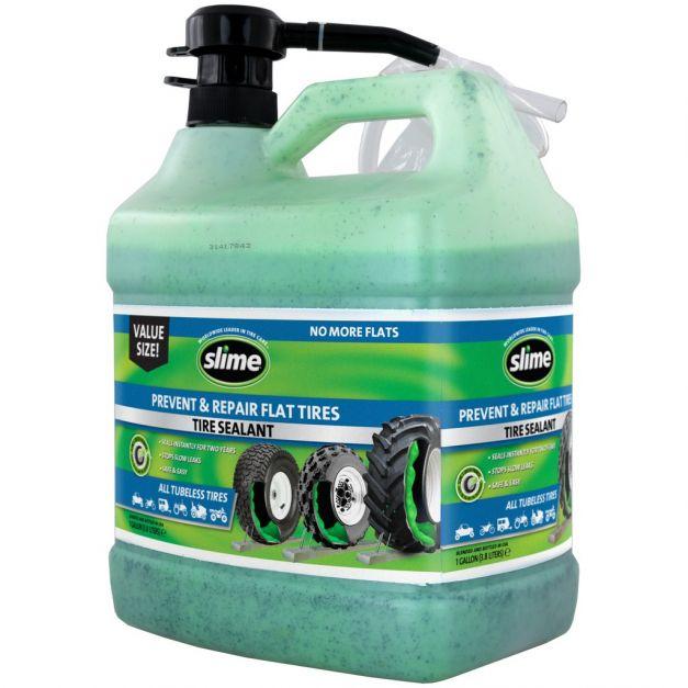 Sellador Slime para llantas sin cámara liquido 1 gl