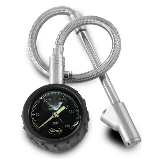 Medidor de presión analógico con manguera metálica 18