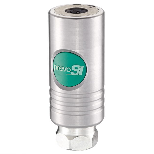 Acople rápido Prevost Safety Quick alto flujo de aluminio de 1/2