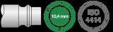 Acople rápido Prevost Safety Quick p/ manguera de aluminio de  1/2