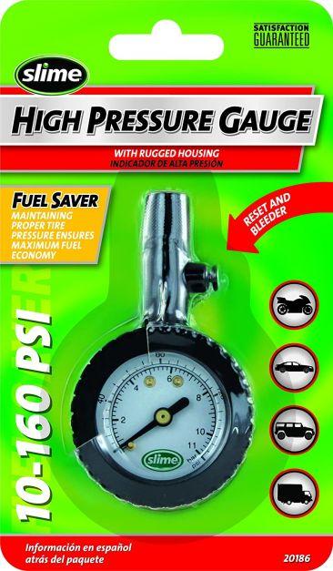 Medidor de presión con válvula super magnético 10- 60 psi