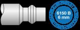 Conector  rápido Prevost para manguera de 1/4