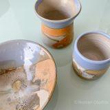 Set de vasos + Jarroncito y plato