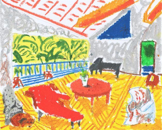 Ilustración Piano y perrito