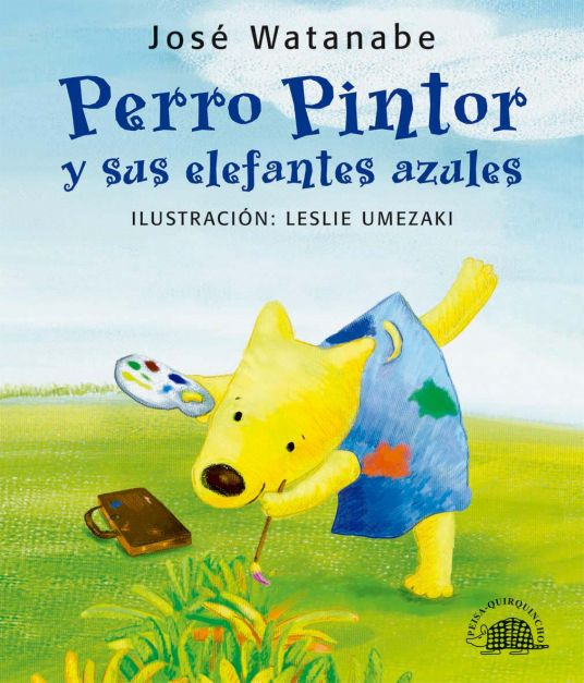 PERRO PINTOR Y SUS ELEFANTES AZULES