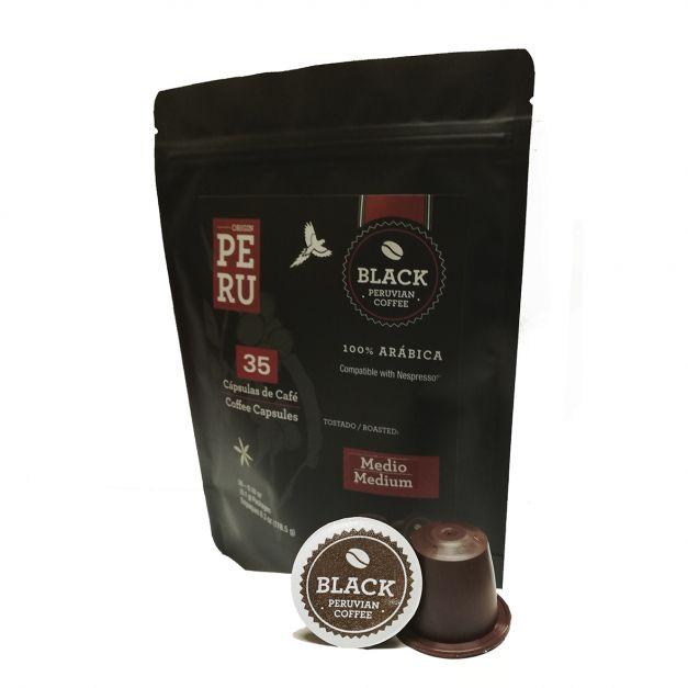 Bolsa de 35 cápsulas regulares. Tostado medio. Compatible con Nespresso ®.