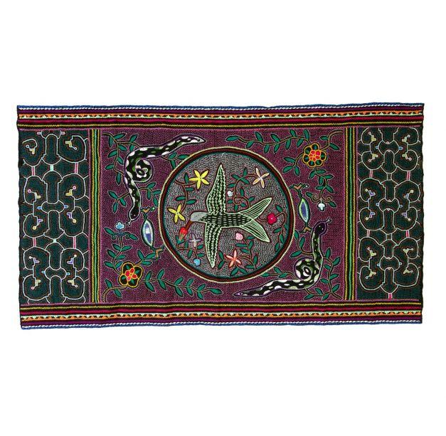Textil picaflor y maya kené
