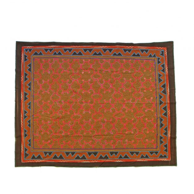 Textil bordado maya kené