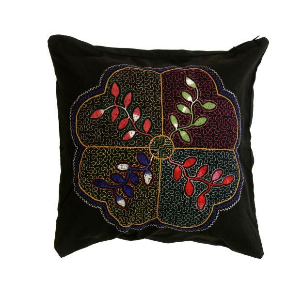 Cojín con diseño de planta ayahuasca
