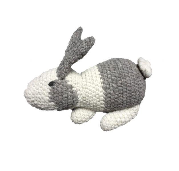 Peluche de conejo gris
