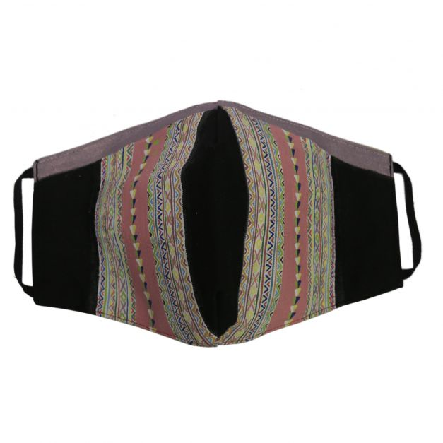 Mascarilla Manta textil morada de Sarhua