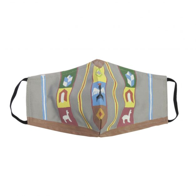 Mascarilla Poncho textil plomo
