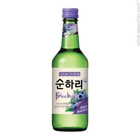 chum churum soju sabor de blueberry 360ml