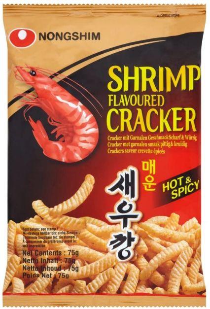 shrimp flavored cracker hot & spicy 75gr