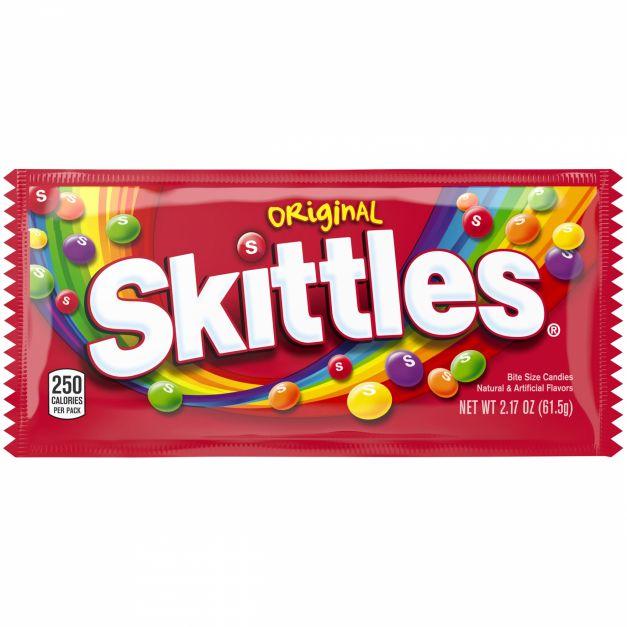 SKITTLES ORIGINA SINGLES CANDY 61.50GR